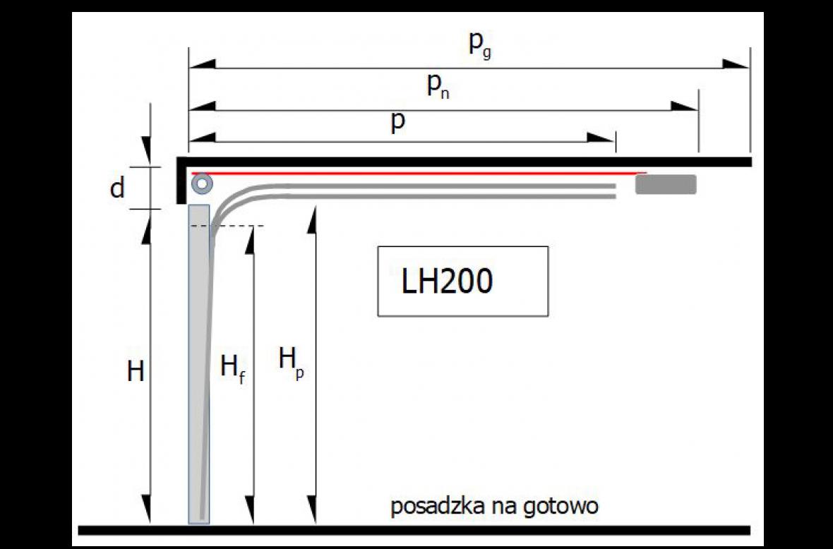 Prowadzenie LH 200 – sprężyny skrętne z przodu